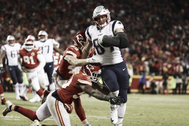 Gronkowski levantó su nivel en esta post temporada. Foto: NFL.