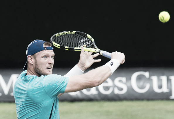 Sam Groth's powerful backhand and serve matched up well with Dominic Thiem in Stuttgart. (Photo: Getty Images)