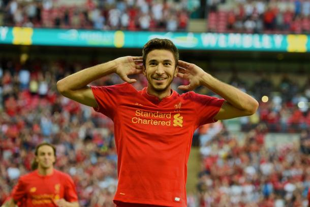 Grujic picked up a knock the day after scoring against Barcelona (photo; Getty Images)