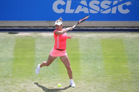 Simona Halep into play at the 2015 Aegon Classic I Photo: Jan Kruger