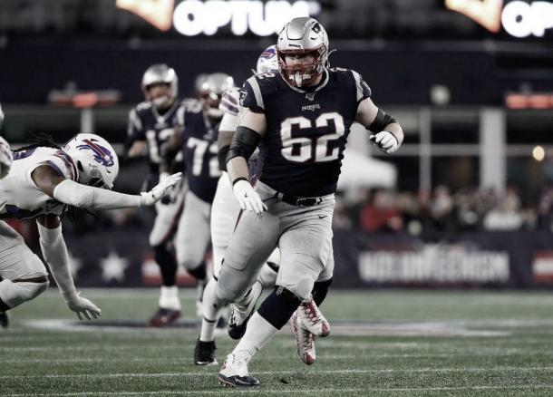 Joe Thuney fue etiquetado como jugador franquicia en los Pats (foto Patriots.com)