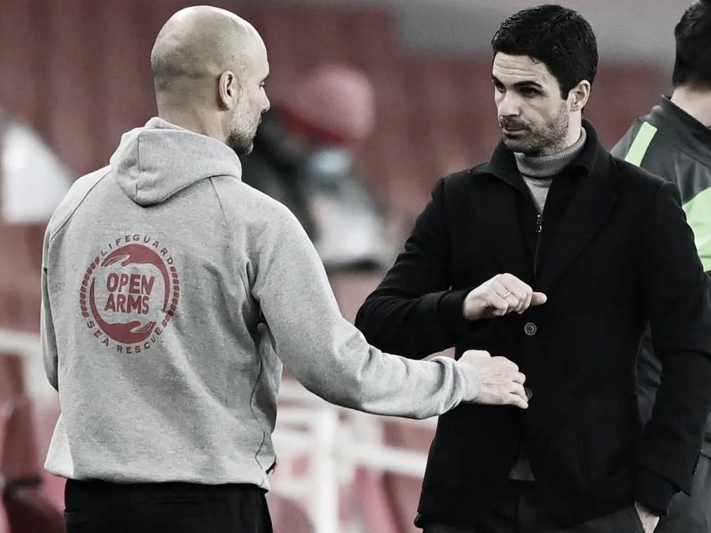 Guardiola y Arteta, maestro y discípulo | Foto: Premier League