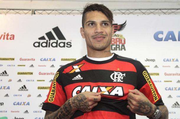Em 2015, Paolo Guerrero chegou ao Rubro-Negro com altas expectativas. Foto: Gilvan de Souza/Flamengo