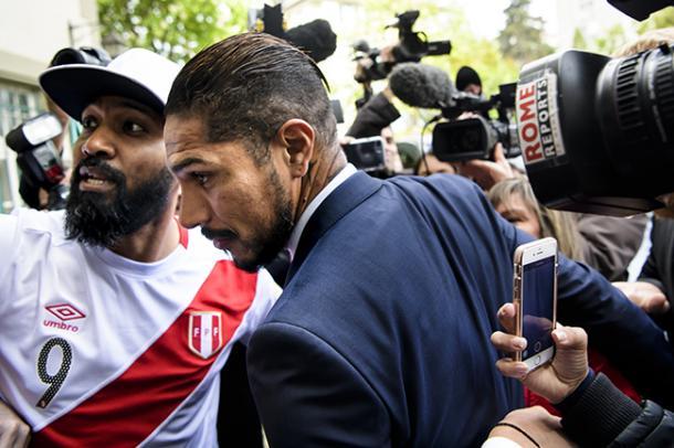 Paolo Guerrero durante la audiencia del 3 mayo | Foto: VI Images