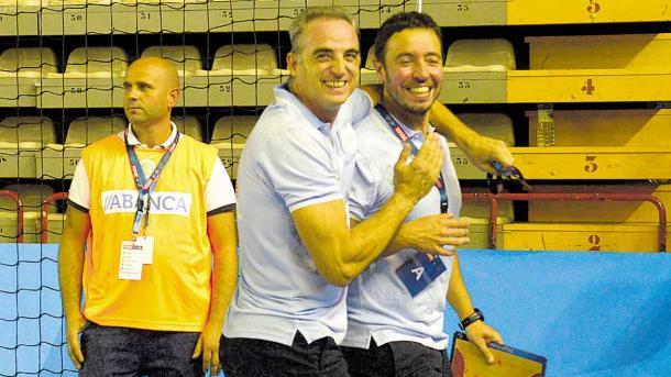 Rafa Guijosa celebra la victoria ante el Kadetten. Foto:
