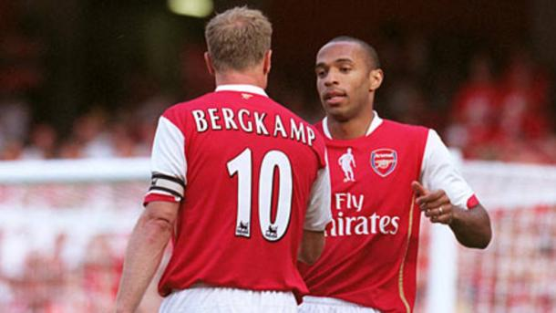 Henry y Bergkamp | Fuente: Arsenal