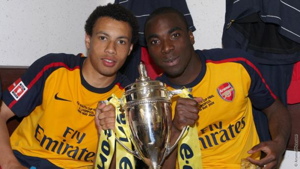 Francis Coquelin with the 2009 FA Youth Cup | Photo: Arsenal.com