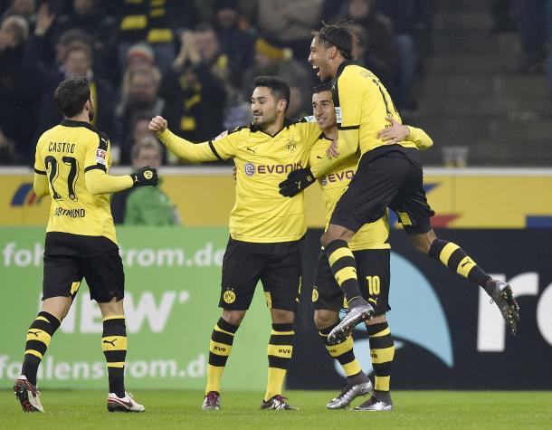 Castro, Gundogan, Reus and Aubameyang in jubilant mood | Photo: Yahoo