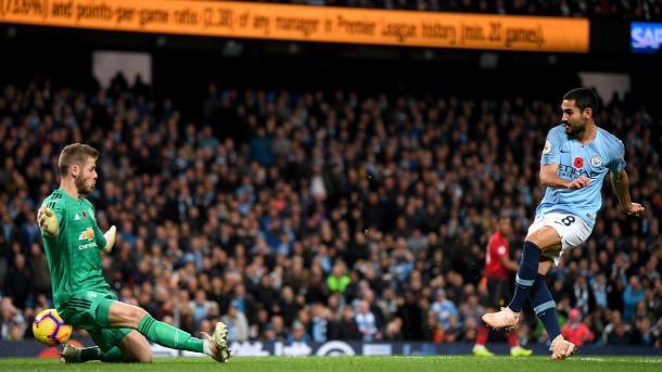 Gündogan en el 3-1. Foto: Premier League.