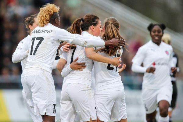 Rosengard celebrate their opening goal (Source: Uefa)