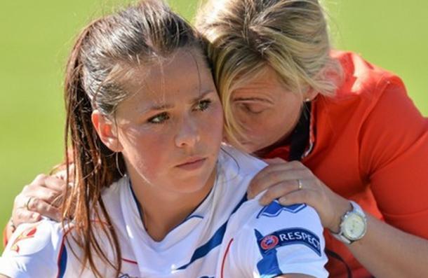 Icelandic international, Gunnarsdottir, saw her opening penalty saved (Source: Sport.moi.ic)