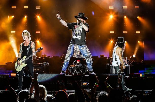 Depois de menos de um ano, o Guns N' Roses volta ao Brasil para encerrar as apresentações do penúltimo dia do Rock in Rio 2017. FOTO: Reprodução