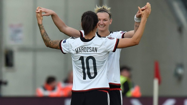 Alexandra Popp and Dzsenifer Marozsán look to lead Germany to glory | Source: Imago/Team2