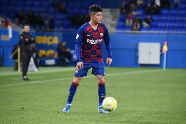 Dani Morer, jugador del FC Barcelona B. FOTO: Noelia Déniz