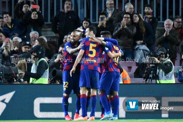 Arturo Vidal celebrando un gol. | Foto. Noelia Déniz