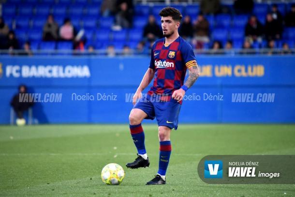 Monchu durante un partido con el Barça B | Foto: VAVEL