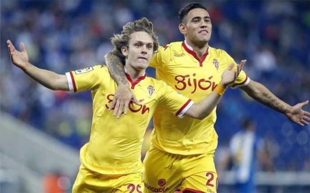 Halilovic celebra el gol en Cornellá-El Prat   Foto: El Periódico