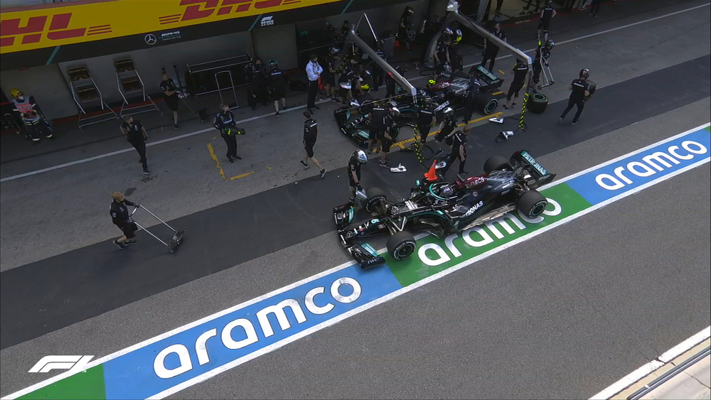 Hamilton con problemas de setup. Foto: F1