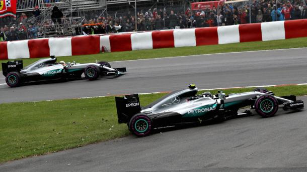 Hamilton saw off Rosberg to win the Grand Prix | Image: Sky Sports
