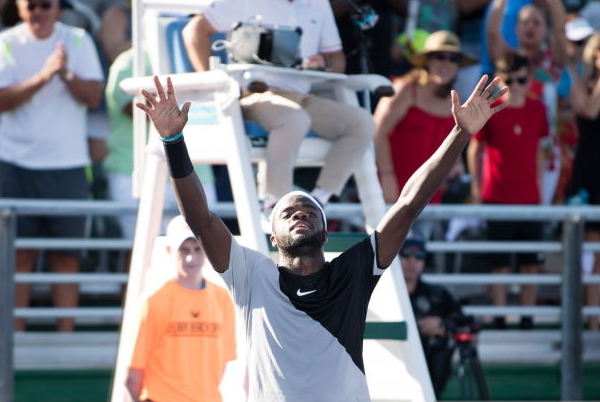 Photo Source: Peter Staples/ATP World Tour via Getty Images-Frances Tiafoe with his trophy.