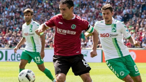 Schmiedebach dominated the midfield | Source: Sportschau.de