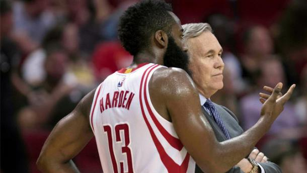 The Houston Rockets ultimate duo: James Harden and Mike D'Antoni. Photo: USATSI