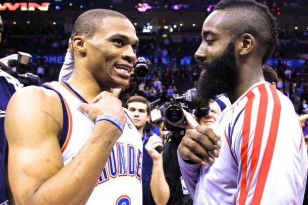 The Beard vs. Brodie. A playoff series to that will be one for the ages. Photo: Associated Press