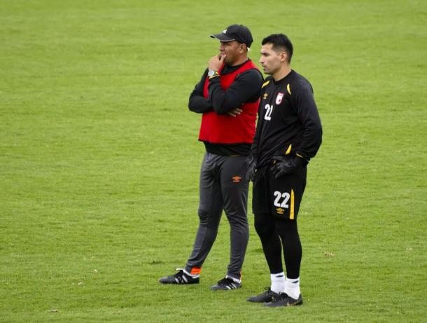 Rivera (izq) y Castellanos (der), auténticos líderes en Santa Fe. Imagen: Independiente Santa Fe