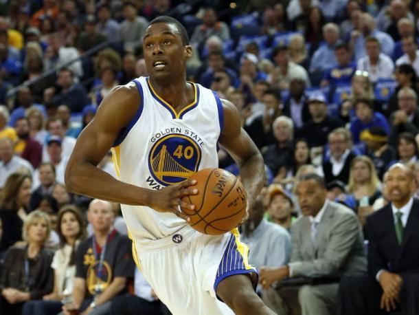 Harrison Barnes, do Golden State, torceu o joelho esquerdo – (Foto: Divulgação/NBA)