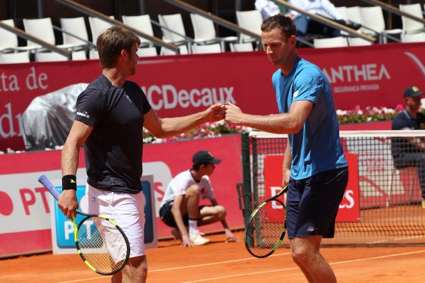 Ryan Harrison and Michael Venus are in the doubles' final. (Photo by Millennium Estoril Open)