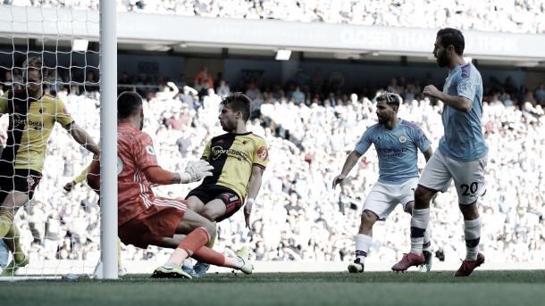 Bernardo Silva completa el primer hat trick de su carrera./ Foto: Premier League