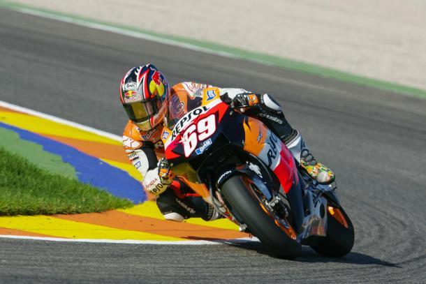 Nicky Hayden rodando en Valencia | Foto: Moto GP