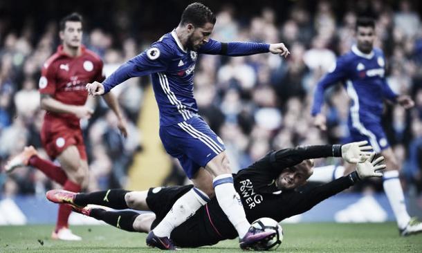 Eden Hazard anotó el segundo gol del Chelsea. Foto: The Guardian