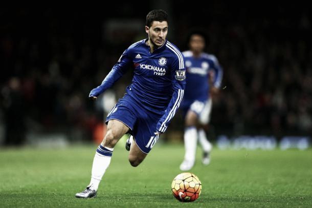 Hazard en un partido con el Chelsea. Foto: Getty Images.