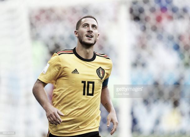 Eden Hazard celebra el 2-0 conseguido frente a Inglaterra / Fuente: Getty Images