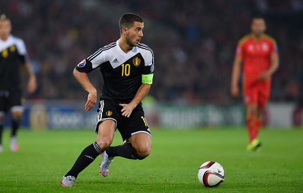 Apesar de temporada abaixo do normal, Hazard é o grande nome da Bélgica (Foto: Stu Forster/Getty Images)