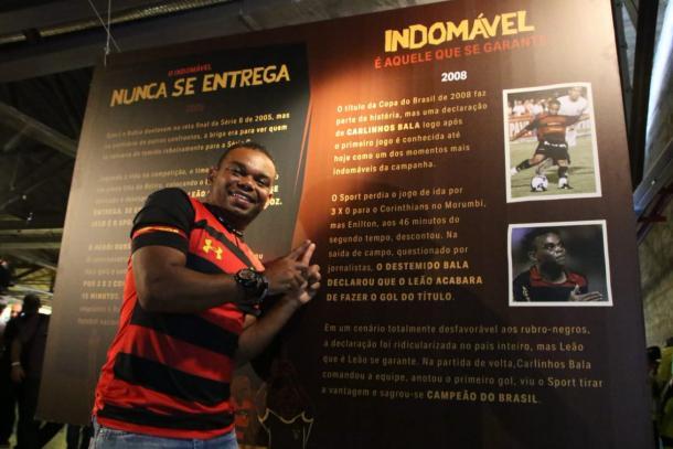 Carlinhos Bala marcou sua presença no evento (Foto: Willians Aguiar/Sport)