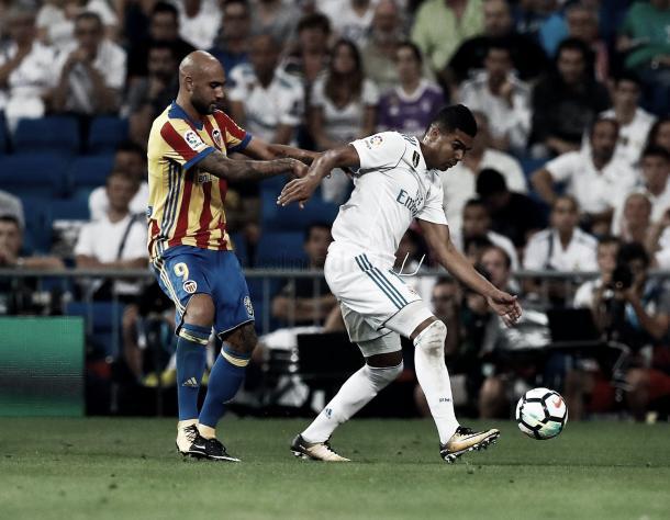 Casemiro luchó cuerpo a cuerpo contra Zaza | Foto: Helios de La Rubia (Real Madrid C.F.)