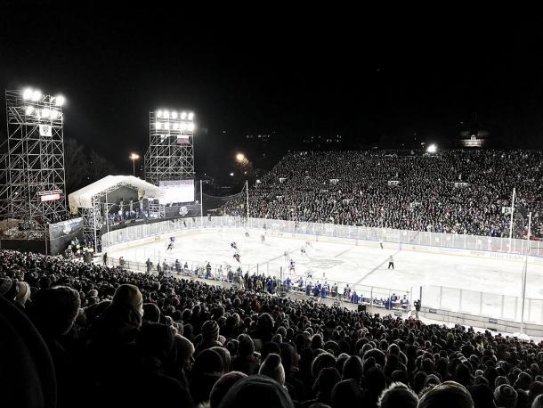Jokerit y SKA jugaron al aire libre por vez primera en la KHL. Foto Wikipedia