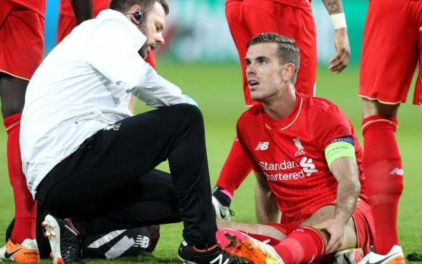 Henderson's season appeared to be over after going off against Dortmund (photo; Getty Images)