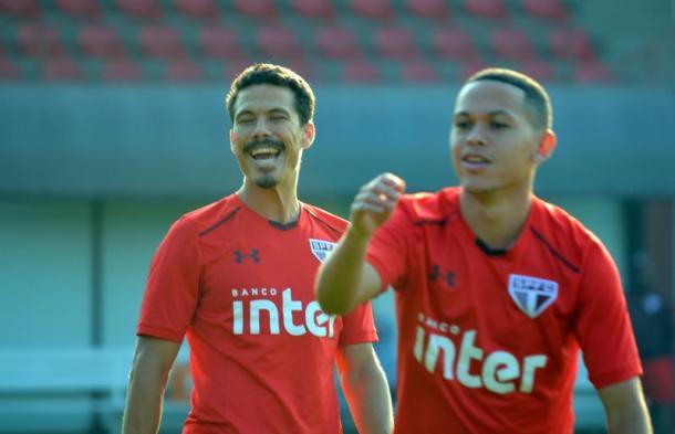 Hernanes e Marcos Guilherme serão caras novas no São Paulo (Foto: Érico Leonan/saopaulofc.net)