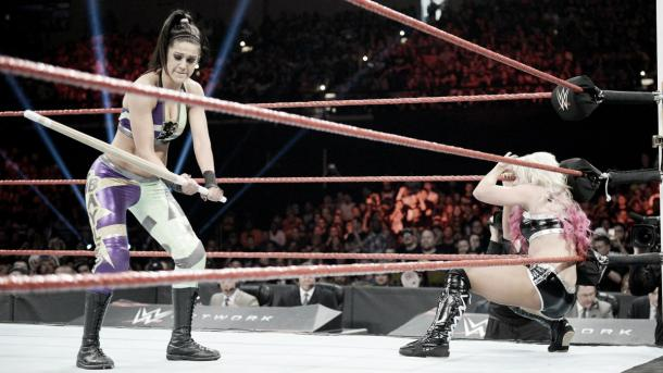 The moment of hesitation that cost Bayley. Photo-WWE.com