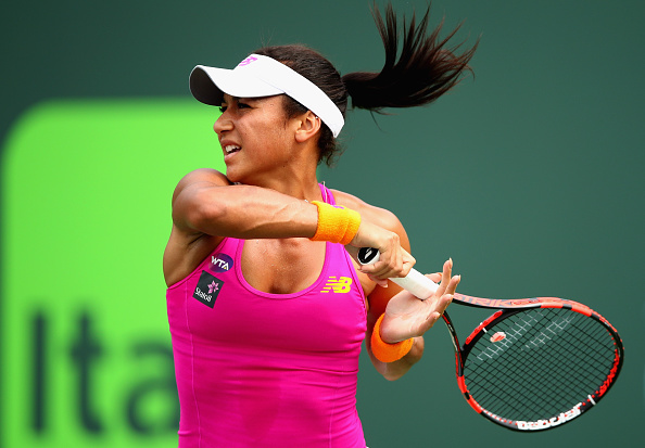 Heather Watson Mid Rally. Photo: Clive Brunskill/Getty Images