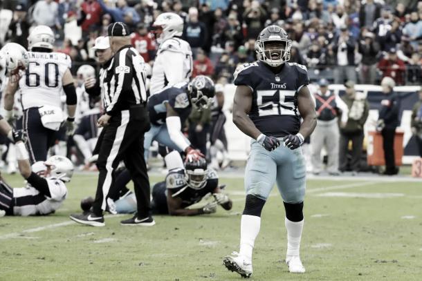 Los Titans realizaron tres sacks a los Patriots, el máximo en la temporada de los de Boston | Foto: Titansonline.com