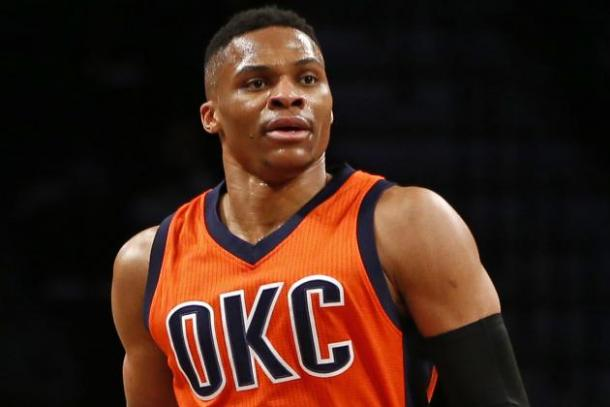 Jeff Green, James Harden, Serge Ibaka and now Kevin Durant. Russell Westbrook remains with OKC but no one knows for how long. Photo: Kathy Willens/AP