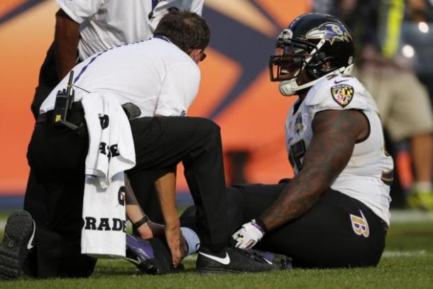 Suggs tore his Achilles against Denver last September (Photo: Getty Images)