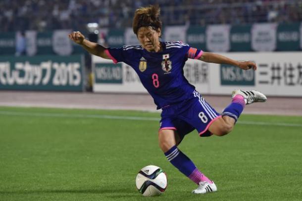 Aya Miyama é a capitã da seleção de seu país e um dos grandes nomes do crescimento do futebol feminino no Japão (Koki Nagahama/Getty Images)