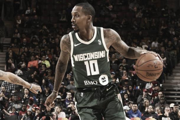 Jennings firmó en febrero con la filial de la G-League de los Bucks. (Ron Turenne/Getty Images)