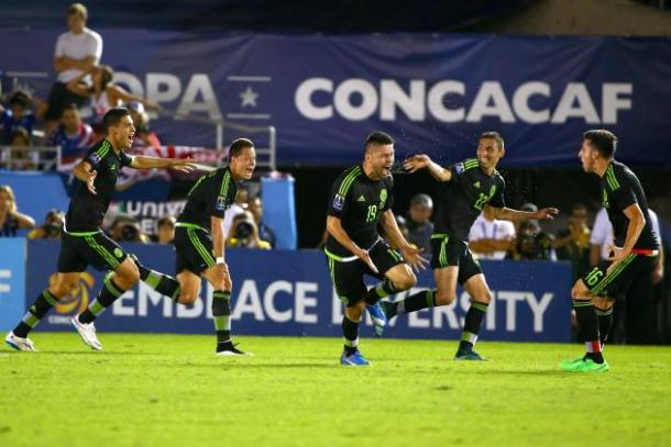Mexico's last win against USA at the Rose Bowl. Photo: Getty