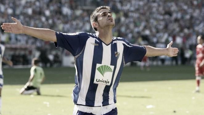 Antonio Hidalgo en la temporada del ascenso del Málaga CF 2007/08. Foto: CE Sabadell